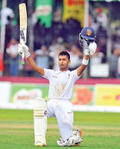 Anandian Kamesh Nirmal after his brilliant century at the 89th Big Match